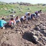 1. Geridu 1997, Area 3000 durante lo scavo